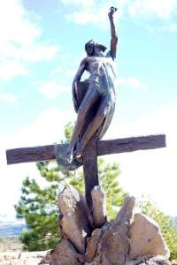 The Ascension - Stations of the Cross at San Luis, Colorado.