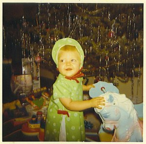 My first Christmas. I was obviously not stressed out. I am not sure about my parents, however.